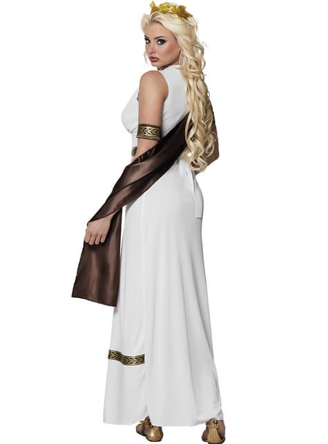 Disfraz de diosa griega imponente para mujer