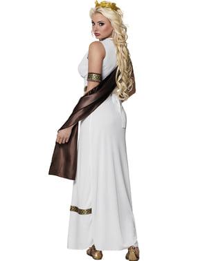 Costum de zeiță greacă impunătoare pentru femeie