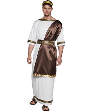 Fato de deus grego imponente para homem