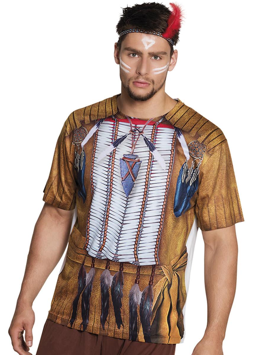 shirt indianer f r m nner f r kost m funidelia. Black Bedroom Furniture Sets. Home Design Ideas