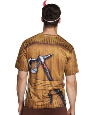 T-shirt de índio para homem