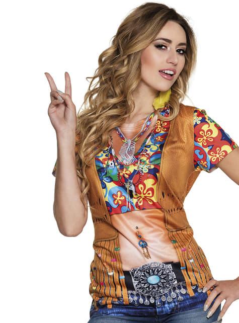 Koszulka hippie flower power damska