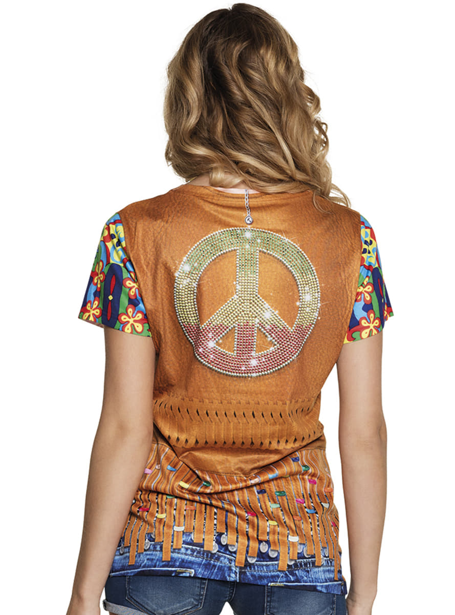 Hippie flower power t-shirt for women. The coolest | Funidelia