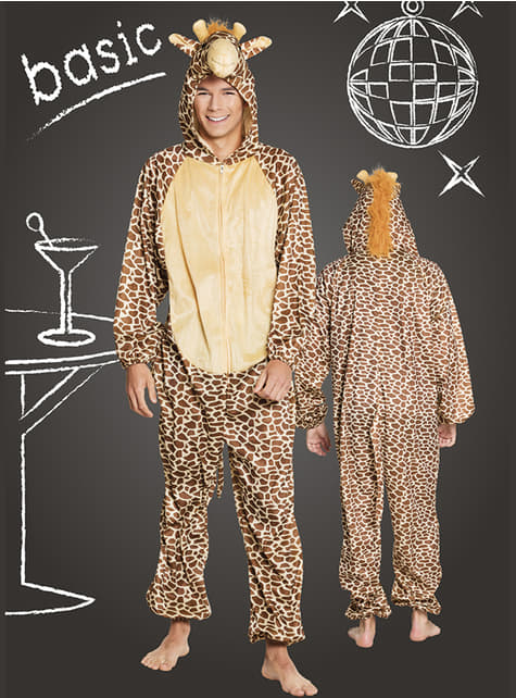 Disfraz de jirafa feliz para adulto