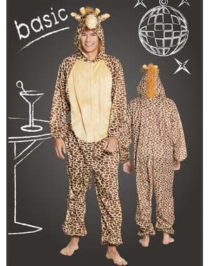 Déguisement girafe joyeuse adulte