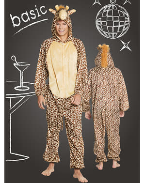 Fato de girafa feliz para adulto