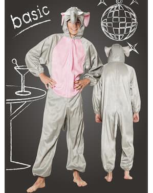 Glad elefant kostume til voksne