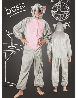 Happy elephant costume for adults