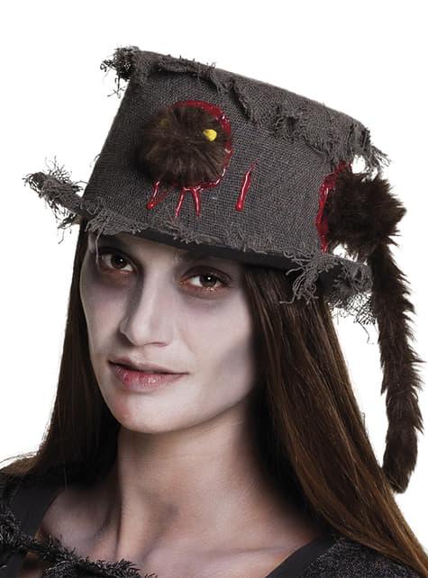 Sombrero con rata comecerebros para adulto
