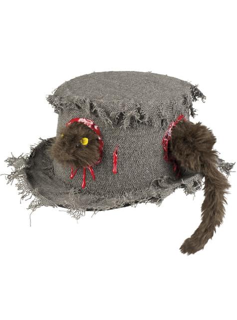 Sombrero con rata comecerebros para adulto - para tu disfraz
