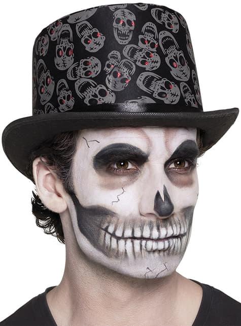 Sombrero de copa con esqueletos para hombre