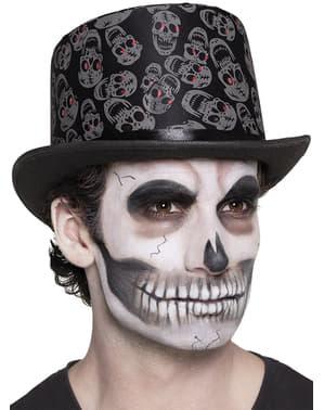 Hoge hoed met doodshoofden voor mannen