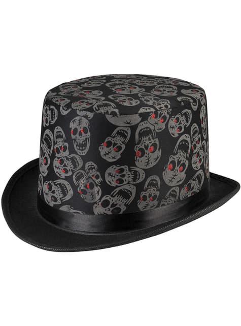 Sombrero de copa con esqueletos para hombre - para tu disfraz