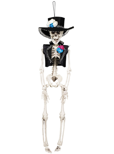 Hanging El Flaco Mexican skeleton figure