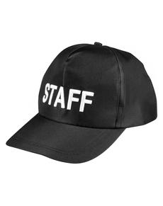 Gorra negra staff para adulto