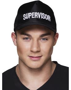Gorra negra supervisor para adulto