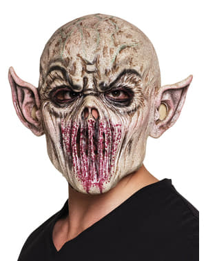 Demon with sewn-up mouth mask for adults