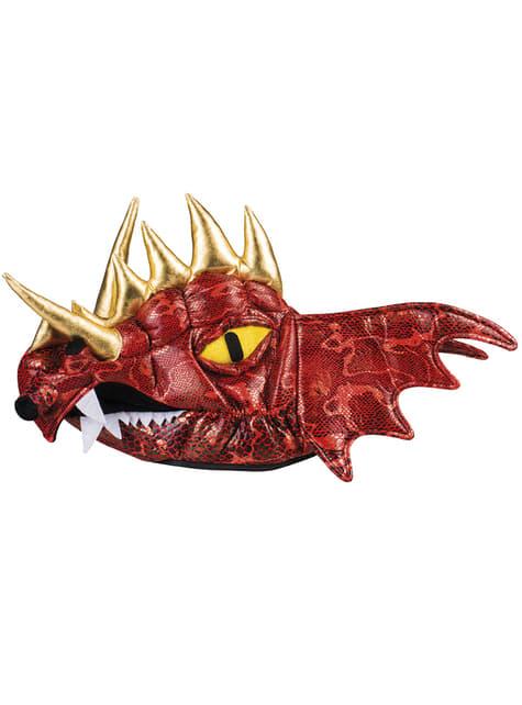 mütze roter drachen mit hörnern für erwachsene die