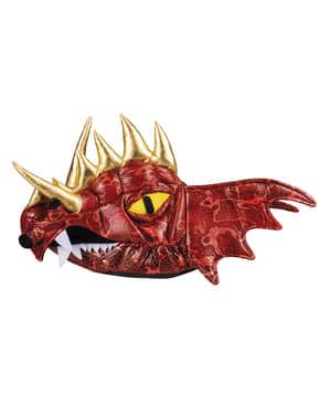 Aikuisten punainen Lohikäärme-hattu sarvilla