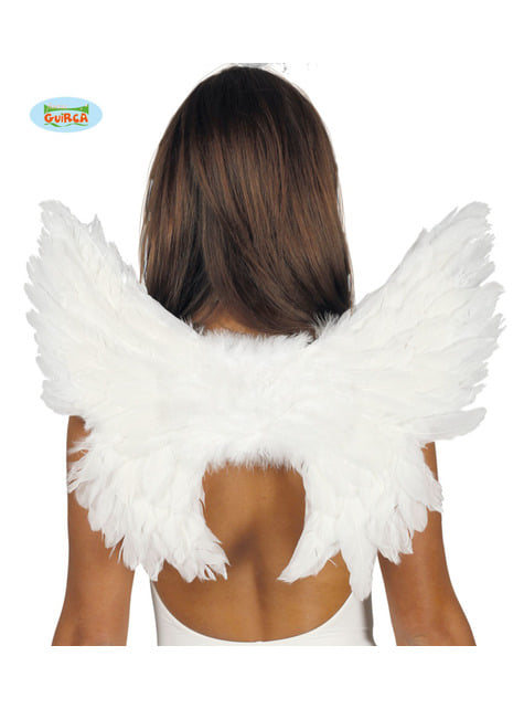 Alas de plumas blancas pequeñas