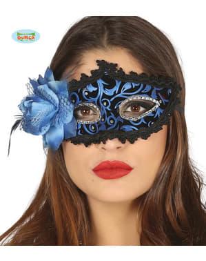 एक फूल के साथ काले और नीले वेनेटियन आईस्कैम्स