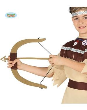 बच्चे के लिए 3 भारतीय तीर के साथ धनुष