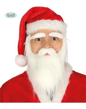 Noel Baba'nın yüz saç seti, sakal, bıyık ve kaşlar
