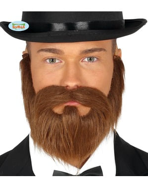 Barbe et moustache châtain homme