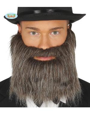Мъжка сива брада с гумена лента