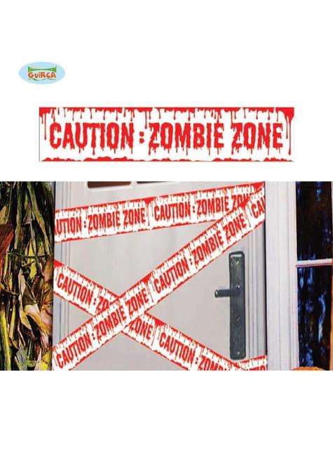 Fita de Perigo Zona zombie