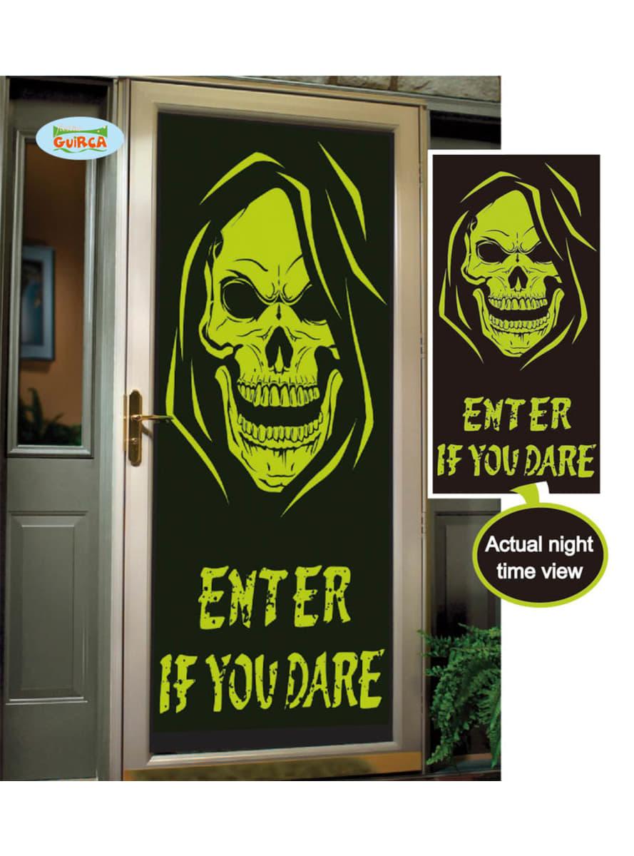 leuchtende dekoration enter if you dare f r t ren f r. Black Bedroom Furniture Sets. Home Design Ideas