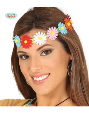 Çok renkli çiçekli hippi şerit