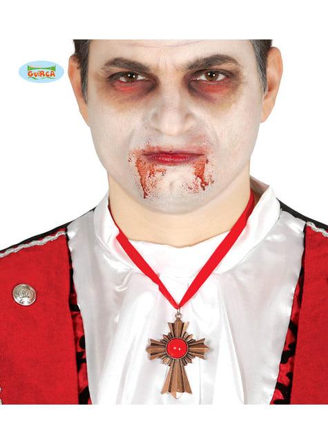 Collar de cruz vampírica para adulto