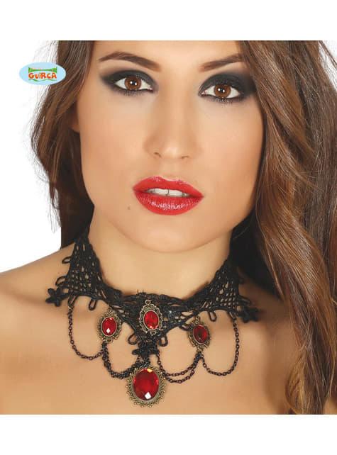 Ruby vampire choker for women