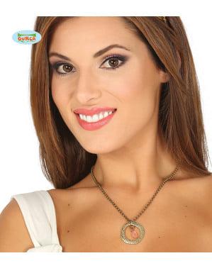 Middelalder halskæde med vedhæng