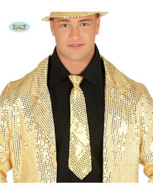 Gull paljett slips for voksne