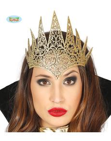 Gouden bevelvoerende koningin kroon