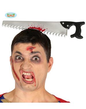 Blodig sav hårbånd