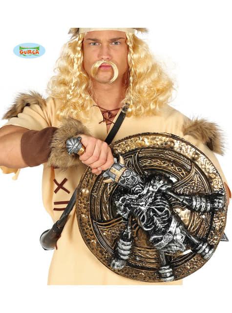 Escudo y espada de vikingo esquelético para adulto