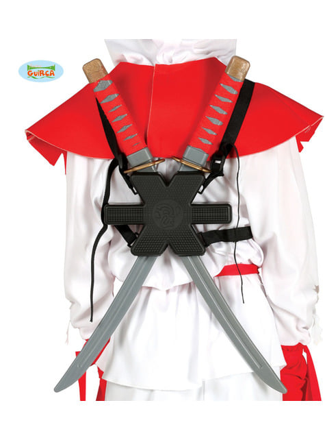 Conjunto de 2 espadas samurai para as costas