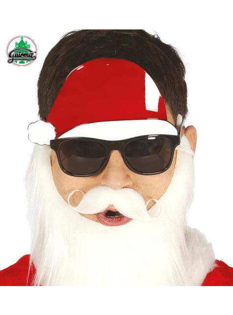 Lunettes obscures avec chapeau de Père Noël