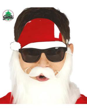 Noel Baba gözlükleri ve şapka