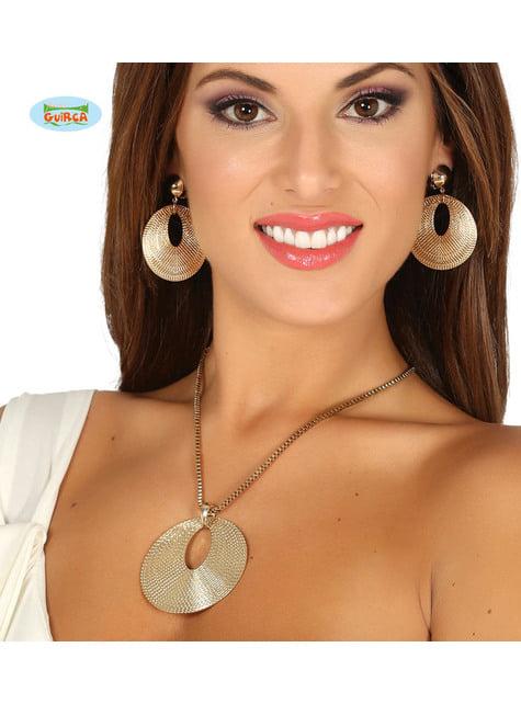 Kit de colar e Brincos de romana para mulher