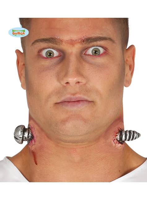 Wunden Latex-Prothese durchgestoßener Nagel