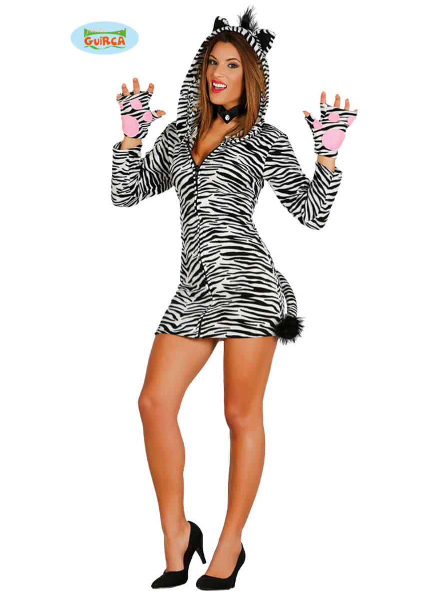 Playful zebra costume for women. Detalle Zoom  sc 1 st  Funidelia. Your Fancy Dress and Halloween Costumes online shop. & Playful zebra costume for women | Funidelia