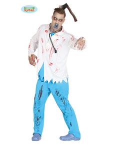 Disfraz de médico zombie para hombre