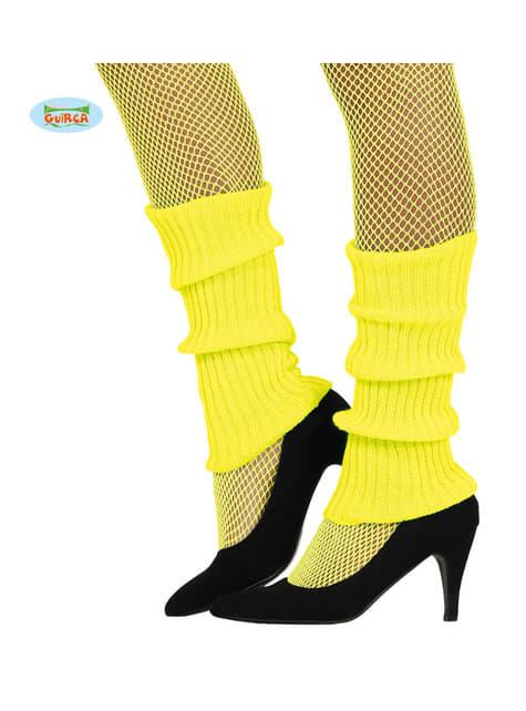 Aquecedores de lã amarelos para adulto