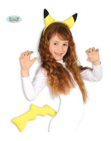 Kit disfraz de pika pika eléctrico infantil