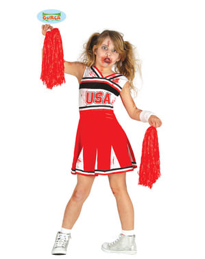 Institute zombie cheerleader costume for girls