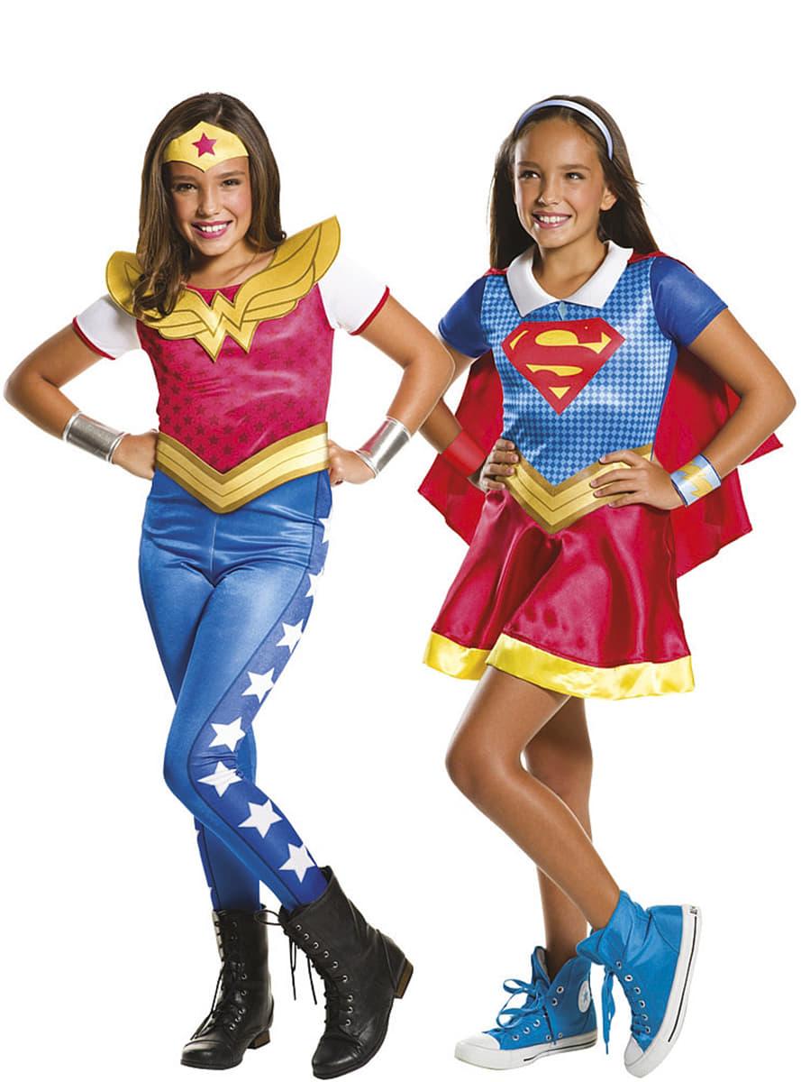 Costume supergirl et wonder woman dc super h ros girls fille les plus amusants funidelia - Image super heros fille ...